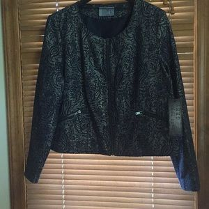 Ruff Hewn zipper blazer jacket